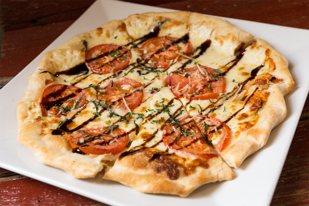 Image of Margherita Flatbread - Fresh Basil, Mozzarella Cheese, Tomato, Balsamic Reduction, Cauliflower Crust